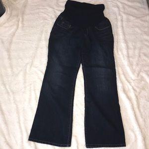 Indigo blue maternity jeans - petite!